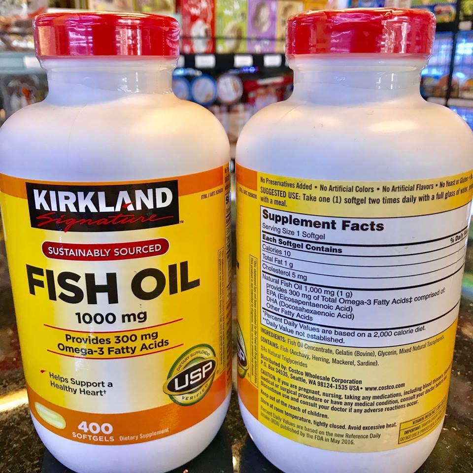 dầu cá fish oil kirkland